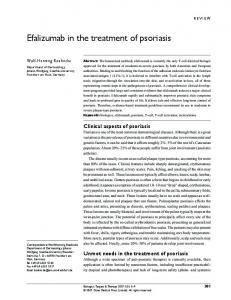 Efalizumab in the treatment of psoriasis