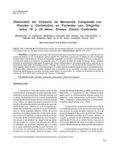 Efectividad del Colutorio de Manzanilla Comparado con Placebo y Clorhexidina en Pacientes con Gingivitis entre 19 y 25 Años: Ensayo Clínico Controlado