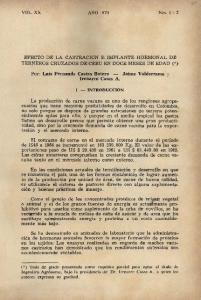 EFECTO DE LA CASTRACION E IMPLANTE HORMONAL DE TERNEROS CRUZADOS DE CEBU EN DOCE MESES DE EDAD (.. }
