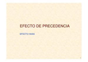 EFECTO DE PRECEDENCIA EFECTO HAAS
