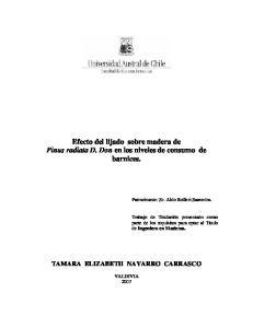 Efecto del lijado sobre madera de Pinus radiata D. Don en los niveles de consumo de barnices