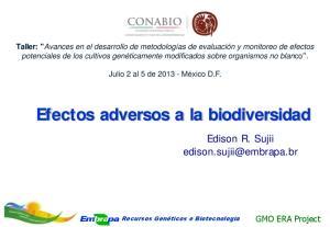 Efectos adversos a la biodiversidad