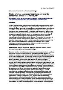 Efectos adversos asociados al tratamiento con factor de transferencia. Ciudad de La Habana, 2004