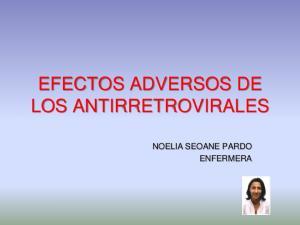EFECTOS ADVERSOS DE LOS ANTIRRETROVIRALES NOELIA SEOANE PARDO ENFERMERA