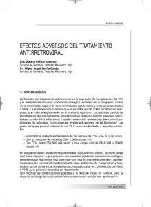 EFECTOS ADVERSOS DEL TRATAMIENTO ANTIRRETROVIRAL