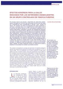 EFECTOS ADVERSOS PARA LA SALUD INDUCIDOS POR LOS ESTEROIDES ANABOLIZANTES EN UN GRUPO CONTROLADO DE FISIOCULTURISTAS