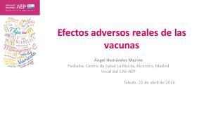 Efectos adversos reales de las vacunas