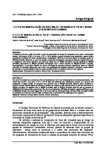 EFEITO DA MANIPULAÇÃO DO SISTEMA DE TREINAMENTO TRI-SET SOBRE O DESEMPENHO HUMANO