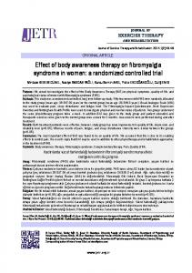Effect of body awareness therapy on fibromyalgia syndrome in women: a randomized controlled trial