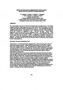 EFFECT OF BOER GOAT CROSSBREEDING WITH HAIMEN GOATS AND HUAI GOATS IN JIANGSU PROVINCE