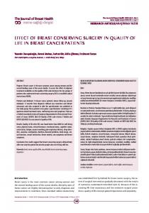 EFFECT OF BREAST CONSERVING SURGERY IN QUALITY OF LIFE IN BREAST CANCER PATIENTS