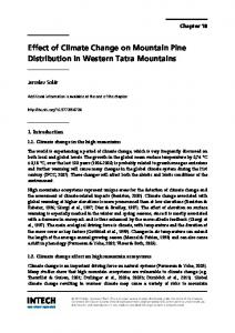Effect of Climate Change on Mountain Pine Distribution in Western Tatra Mountains