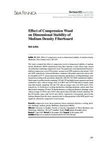Effect of Compression Wood on Dimensional Stability of Medium Density Fiberboard
