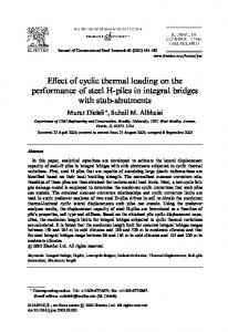 Effect of cyclic thermal loading on the performance of steel H-piles in integral bridges with stub-abutments
