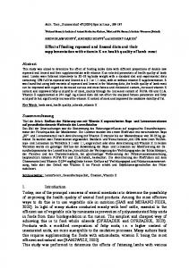 Effect of feeding rapeseed and linseed diets and their supplementation with vitamin E on health quality of lamb meat