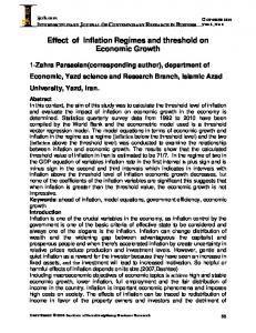 Effect of Inflation Regimes and threshold on Economic Growth