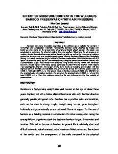 EFFECT OF MOISTURE CONTENT IN THE WULUNG S BAMBOO PRESERVATION WITH AIR PRESSURE