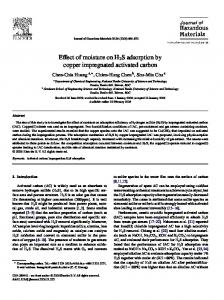 Effect of moisture on H 2 S adsorption by copper impregnated activated carbon