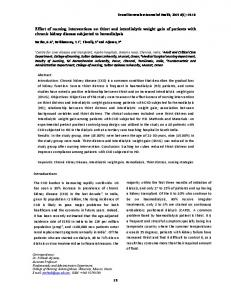 Effect of nursing interventions on thirst and interdialytic weight gain of patients with chronic kidney disease subjected to hemodialysis