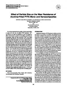 Effect of Particle Size on the Wear Resistance of Alumina-Filled PTFE Micro- and Nanocomposites