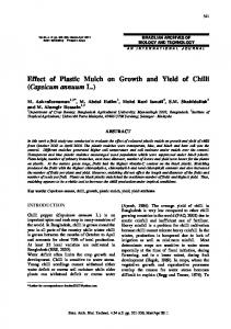 Effect of Plastic Mulch on Growth and Yield of Chilli (Capsicum annuum L.)