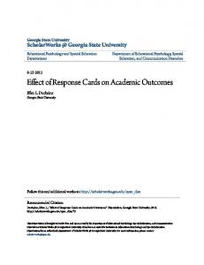 Effect of Response Cards on Academic Outcomes