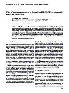 Effect of starting composition on formation of MoSi 2 SiC nanocomposite powder via ball milling