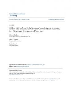 Effect of Surface Stability on Core Muscle Activity for Dynamic Resistance Exercises