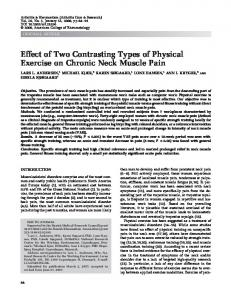 Effect of Two Contrasting Types of Physical Exercise on Chronic Neck Muscle Pain
