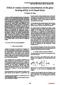 Effect of valence electron concentration on the glass forming ability in Al-based alloys