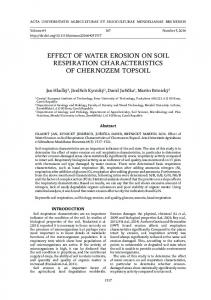 EFFECT OF WATER EROSION ON SOIL RESPIRATION CHARACTERISTICS OF CHERNOZEM TOPSOIL