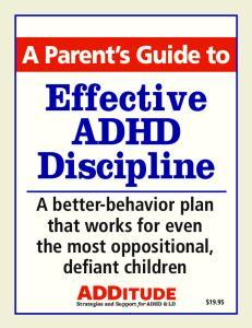 Effective ADHD Discipline