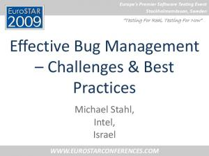 Effective Bug Management Challenges & Best Practices