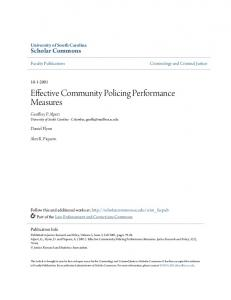Effective Community Policing Performance Measures