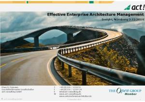 Effective Enterprise Architecture Management