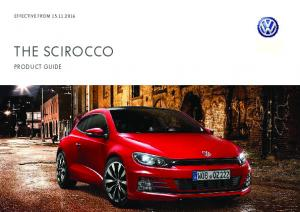 EFFECTIVE FROM THE SCIROCCO PRODUCT GUIDE