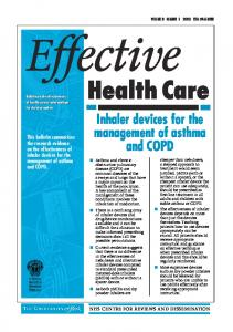 Effective. Health Care. Inhaler devices for the. management of asthma. and COPD