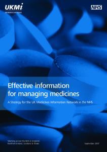 Effective information for managing medicines