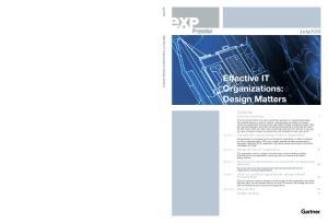 Effective IT Organizations: Design Matters