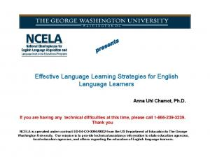 Effective Language Learning Strategies for English Language Learners