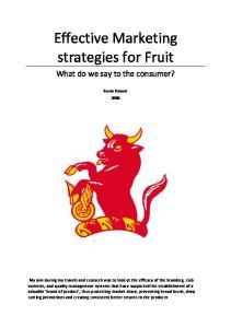 Effective Marketing strategies for Fruit