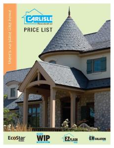 Effective May 1, Price List - Supercedes any previous price list