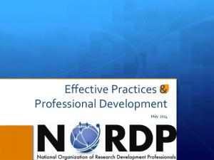 Effective Practices & Professional Development. May 2014