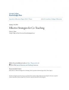 Effective Strategies for Co-Teaching