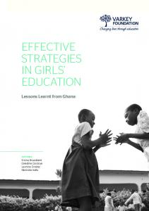EFFECTIVE STRATEGIES IN GIRLS EDUCATION