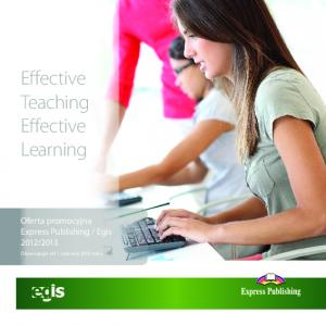 Effective Teaching Effective Learning
