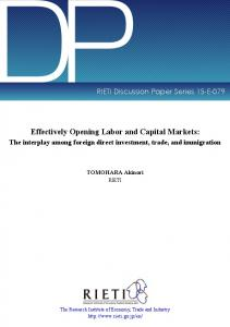 Effectively Opening Labor and Capital Markets: