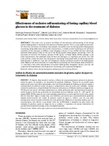 Effectiveness of exclusive self-monitoring of fasting capillary blood glucose in the treatment of diabetes