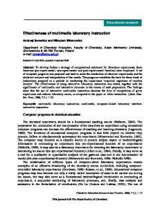 Effectiveness of multimedia laboratory instruction