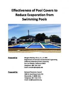Effectiveness of Pool Covers to Reduce Evaporation from Swimming Pools